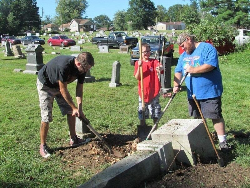 Center Point Cemetery Work